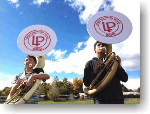 Long Peak Middle School sousaphone covers